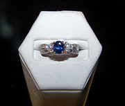 Purple to Blue Sapphire Ring