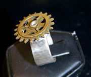 Double Brass Clock Gears